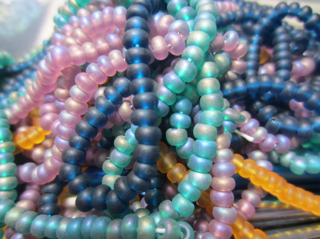 New beads purchased . . . that's right . . . on Etsy! Gorgeous