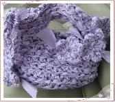 Handmade Crochet Clutch with Key Fob