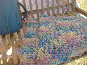 dishcloths in seed stitch
