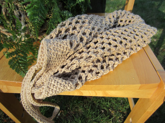 Handmade Crochet Mesh Shopping Bag