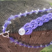 Purple Necklace, and Scallops Bracelet