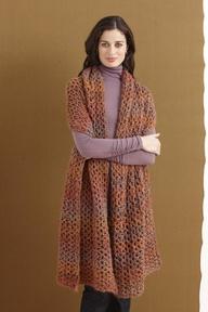 Nice big cozy crochet wrap!