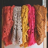 crochet 'doily' throw