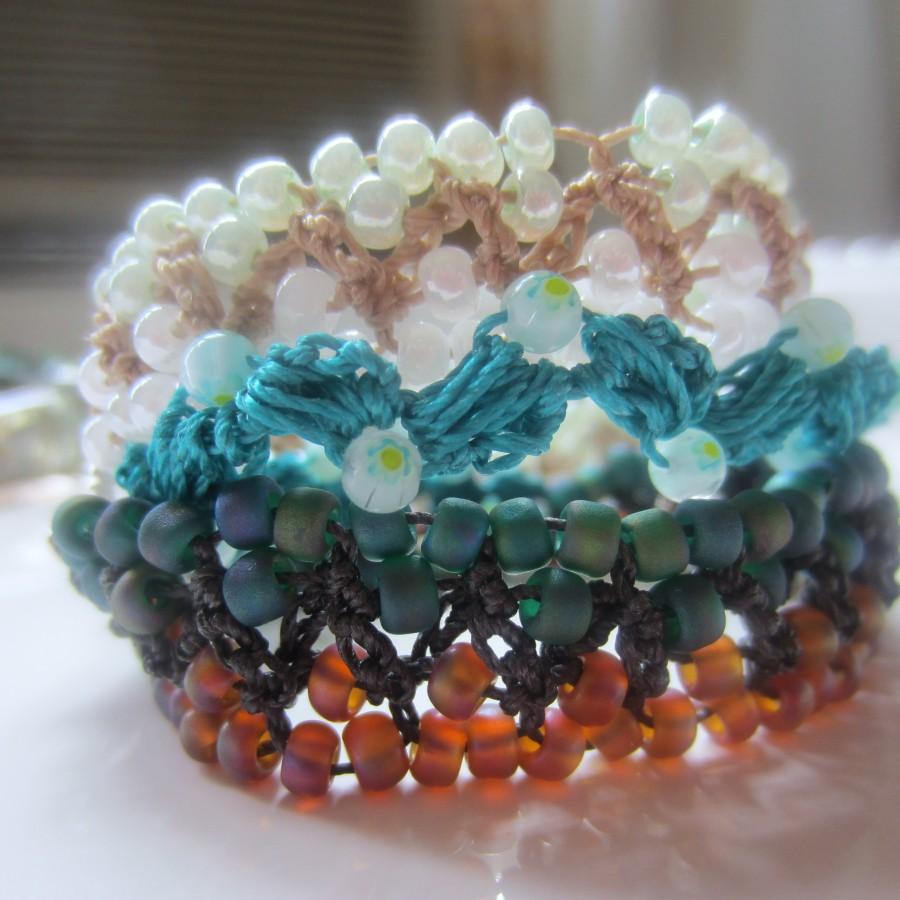 Crocheting Beads : crochet beads bracelets 005 crochet beads bracelets 007