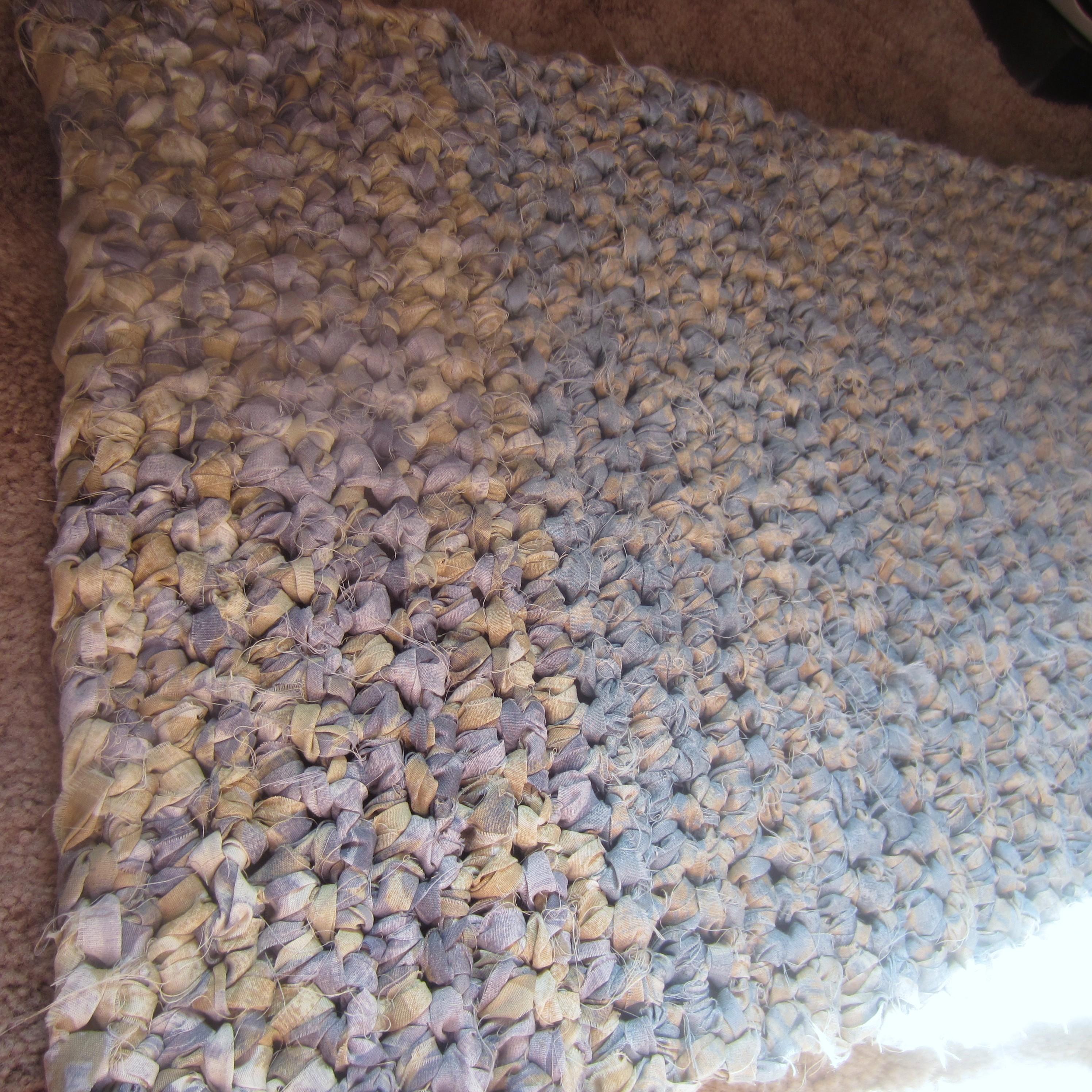 Crochet Rectangle Rag Rug Pattern Home Decor