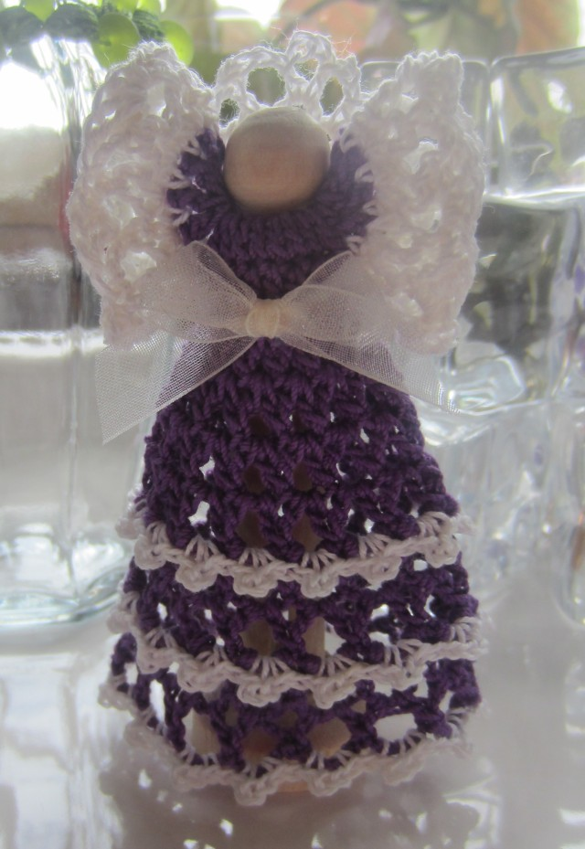 Free Crochet Patterns Clothespin Angels : Angels Divine ? Crochet Clothespin Angel G-Ma Ellens ...