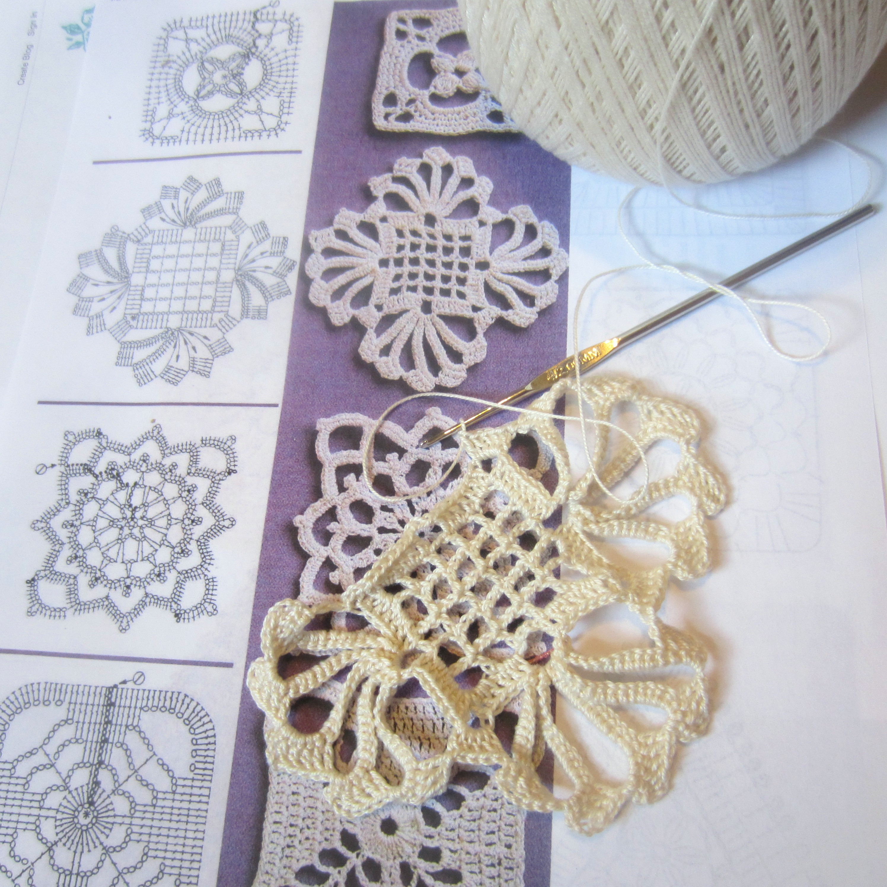 Crochet Motif Patterns : Crochet Motif Diagram