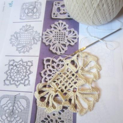 Fancy crochet motif