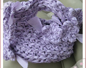 Pretty Crochet Lavender Clutch