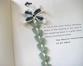 crochet lace & butterfly bookmark