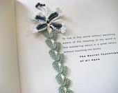 crochet lace & butterfly bookmark