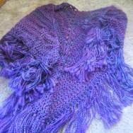 Purple Haze crochet shawl 009
