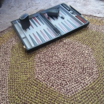 Completed Scrap Yarn Rug