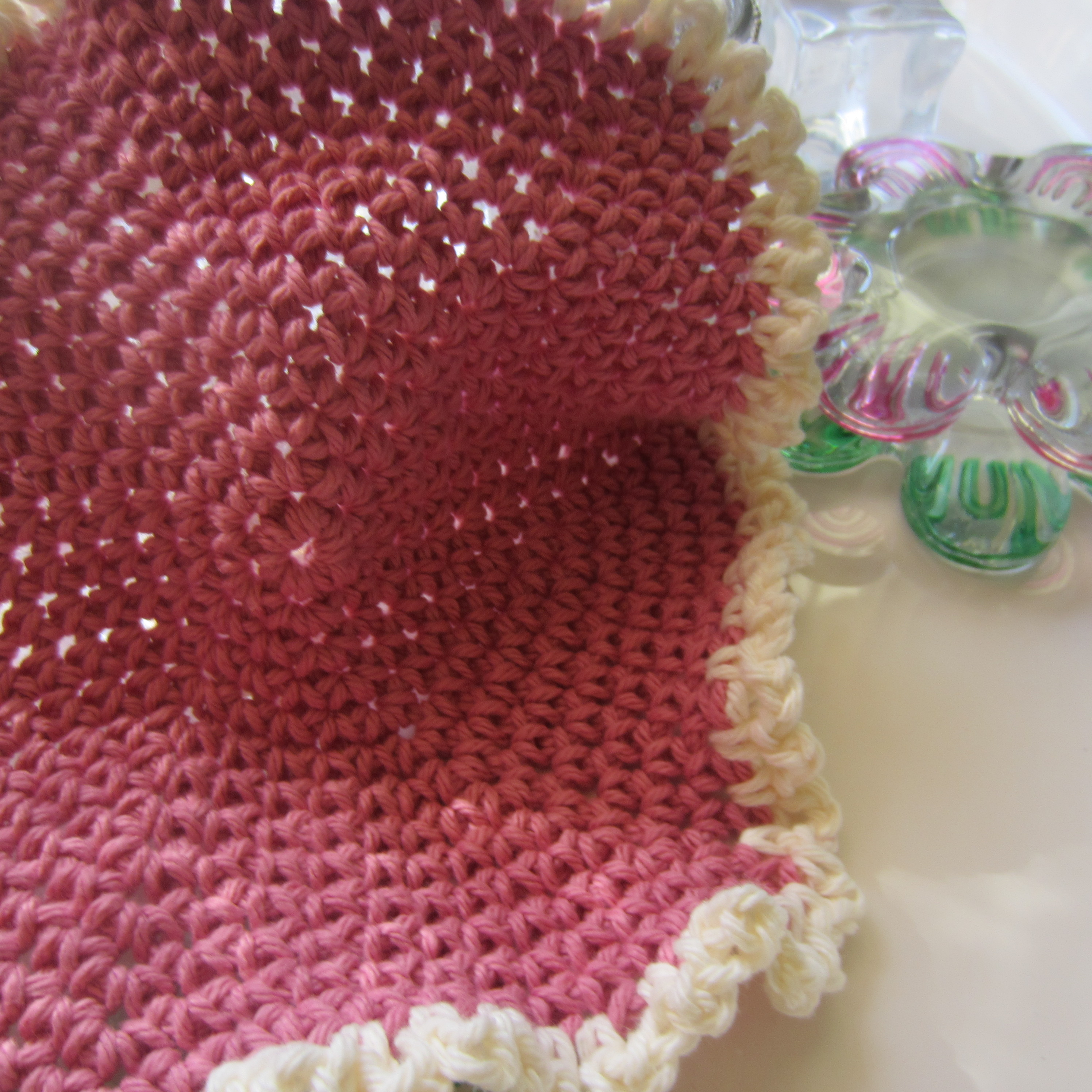 Super Simple Single Crochet Hexagonal Dishcloth Picture Tutorial