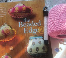 the Beaded Edge 2, pink thread, pearly white beads. :D
