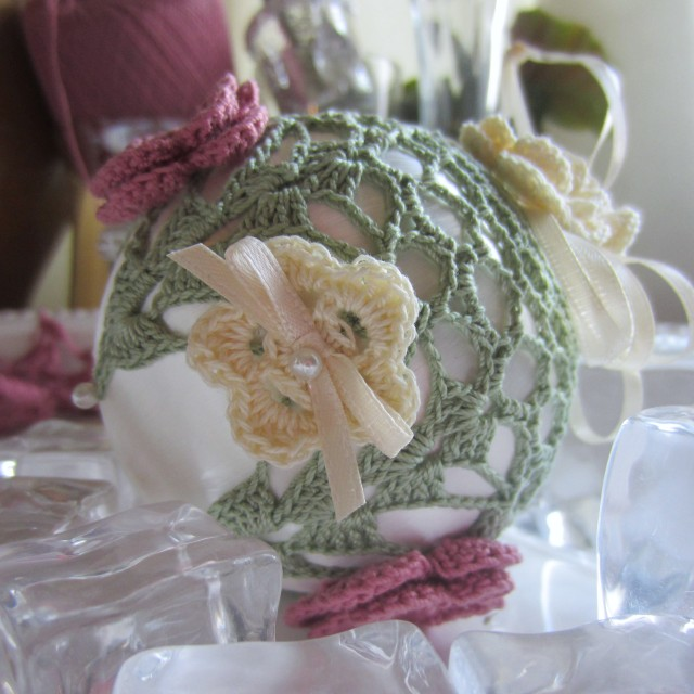 crochet, Christmas, ornaments, thread 009