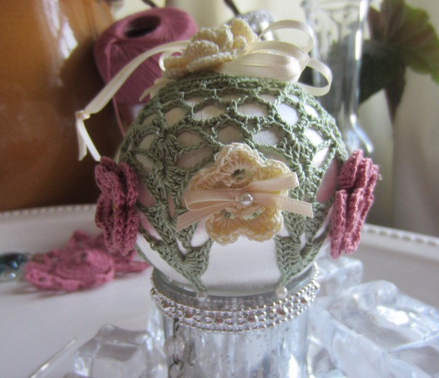 crochet, Christmas, ornaments, thread 011