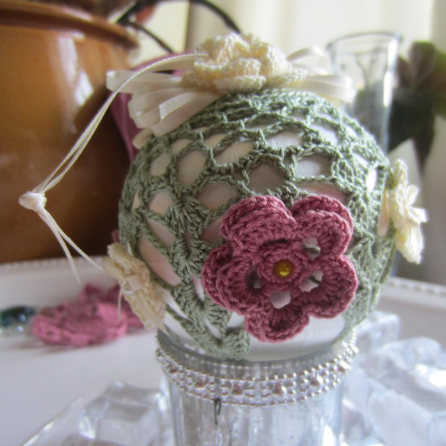 crochet, Christmas, ornaments, thread 012