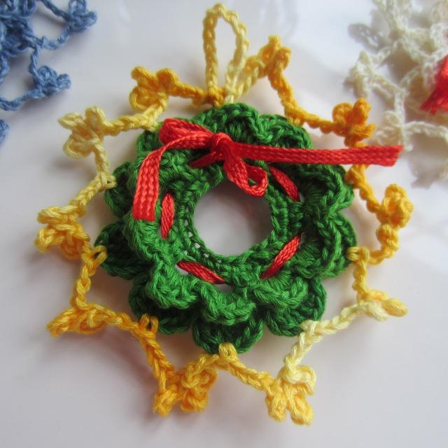 crochet, Christmas, ornaments, thread 006
