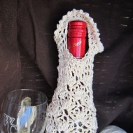 crochet, wine tote, etsy, blog, cotton yarn 006