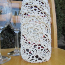 crochet, wine tote, etsy, blog, cotton yarn 012