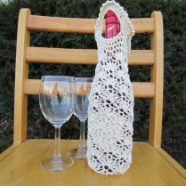 crochet, wine tote, etsy, blog, cotton yarn 015