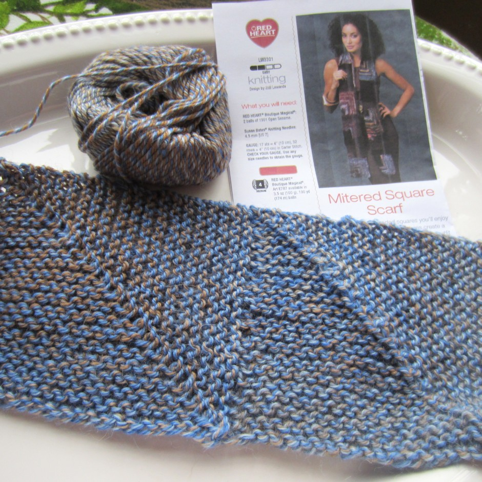knit, mitered square 006