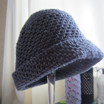 knit, mitered square, crochet, slouchy beanie, wine totes 007