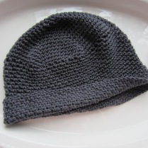 knit, mitered square, crochet, slouchy beanie, wine totes 011