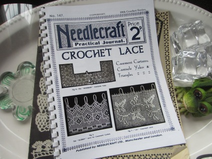 I purchased this reproduction full of crochet lace.