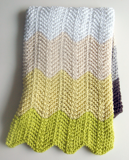 Chevron Afghan Pattern Knit : Chevron Baby Blanket   the purl bee G-Ma Ellens Hands   Adventures in ...