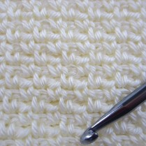 Close up, crochet Seed Stitch