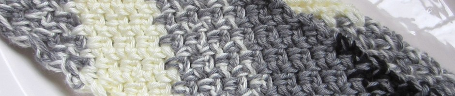 A New Scarf Diagonal Crochet In Black Grey And White G Ma