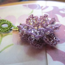 lavender, beaded crochet, etsy 015