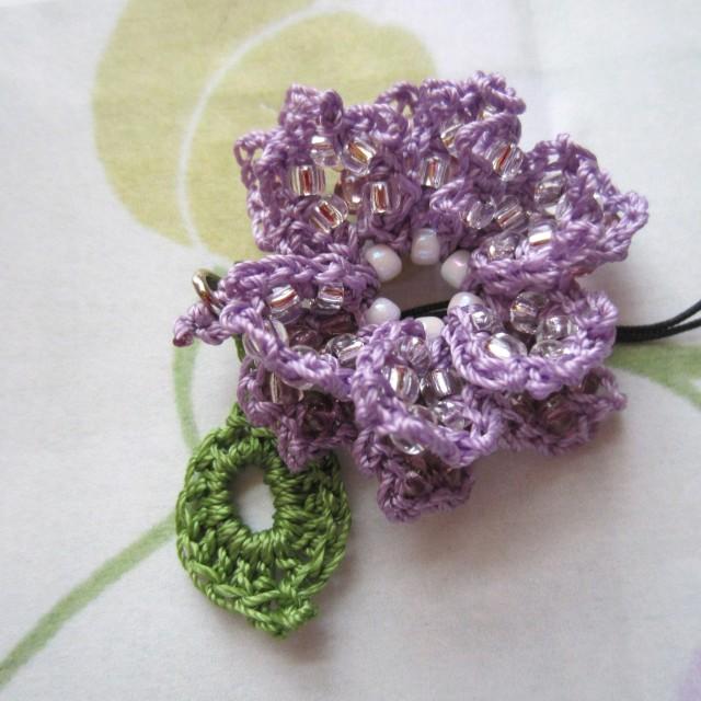lavender, beaded crochet, etsy 020