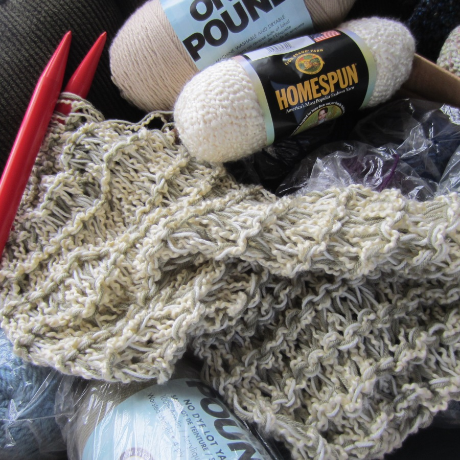 yarn stash, size 50 needles, knitting 007 | G-Ma Ellen\'s Hands ...
