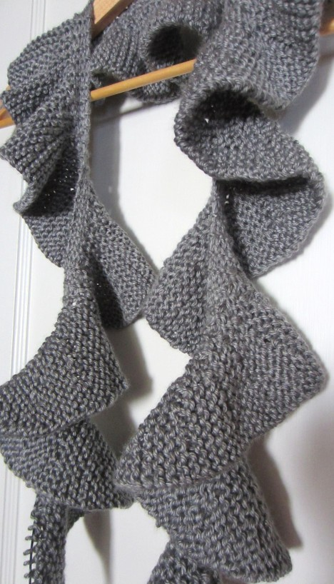 Two Ruffle Scarves, Knitting Works In Progress . . . G-Ma Ellens Hands...