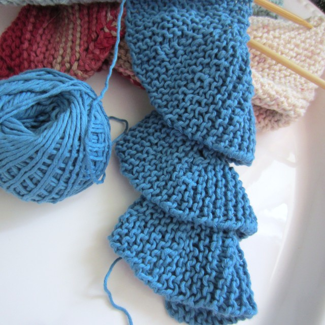 Knitting Stitches Short Rows : Trying My Hand At Short Row Knitting . . . Spiral Scarf Beginnings G-Ma Ell...
