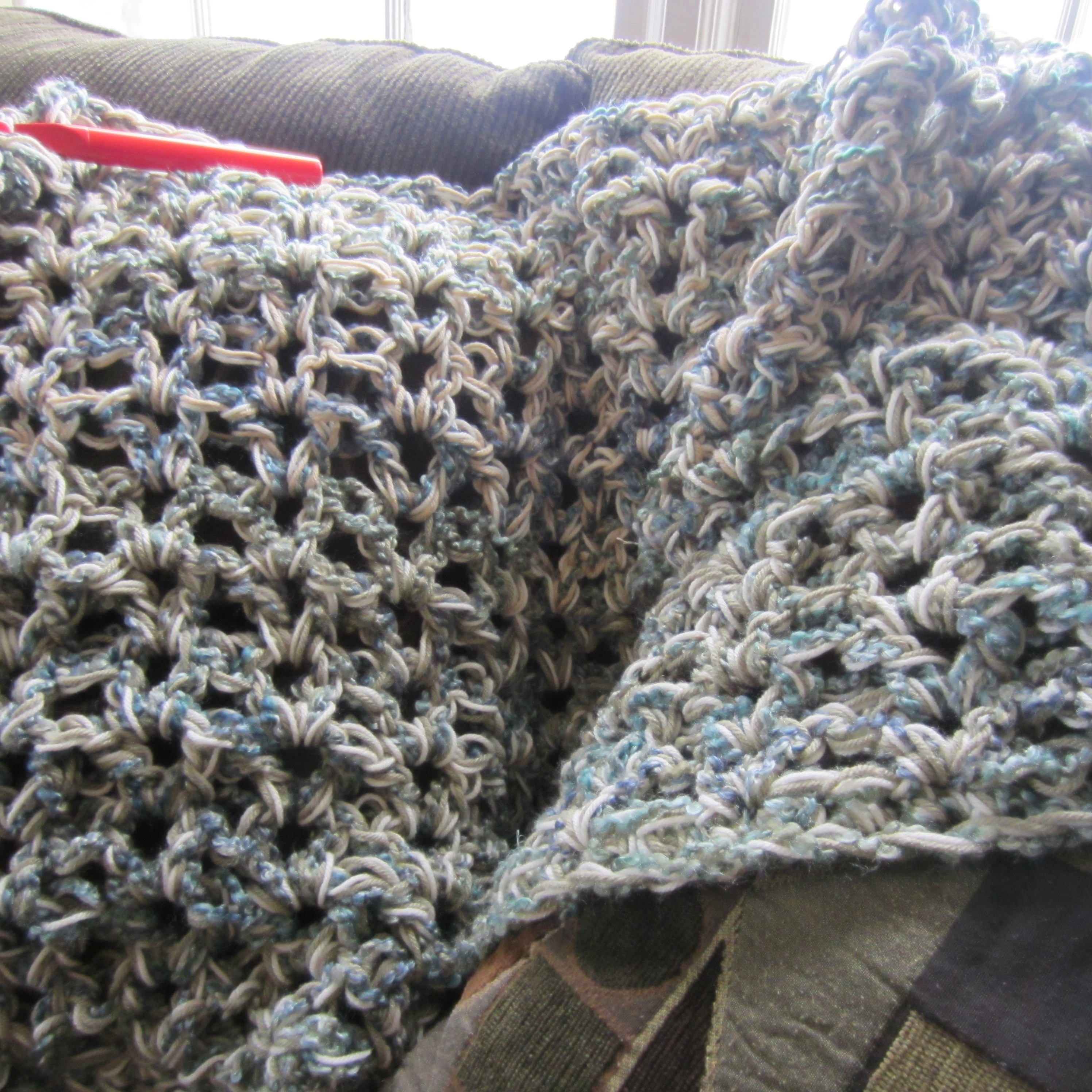 5 1/2 Hour Afghan, and some Ruffle Yarn | G-Ma Ellen\'s Hands ...