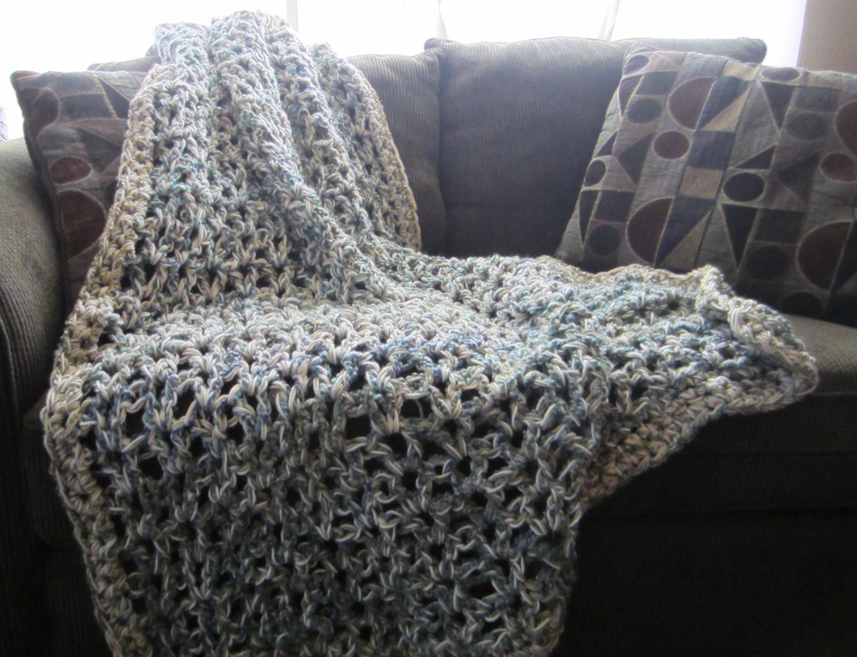 Finished Destash Project Crochet Throw G Ma Ellens Hands
