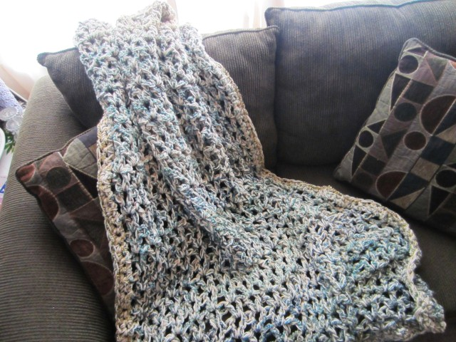 three-strand afghan, homespun, one pound yarn 002