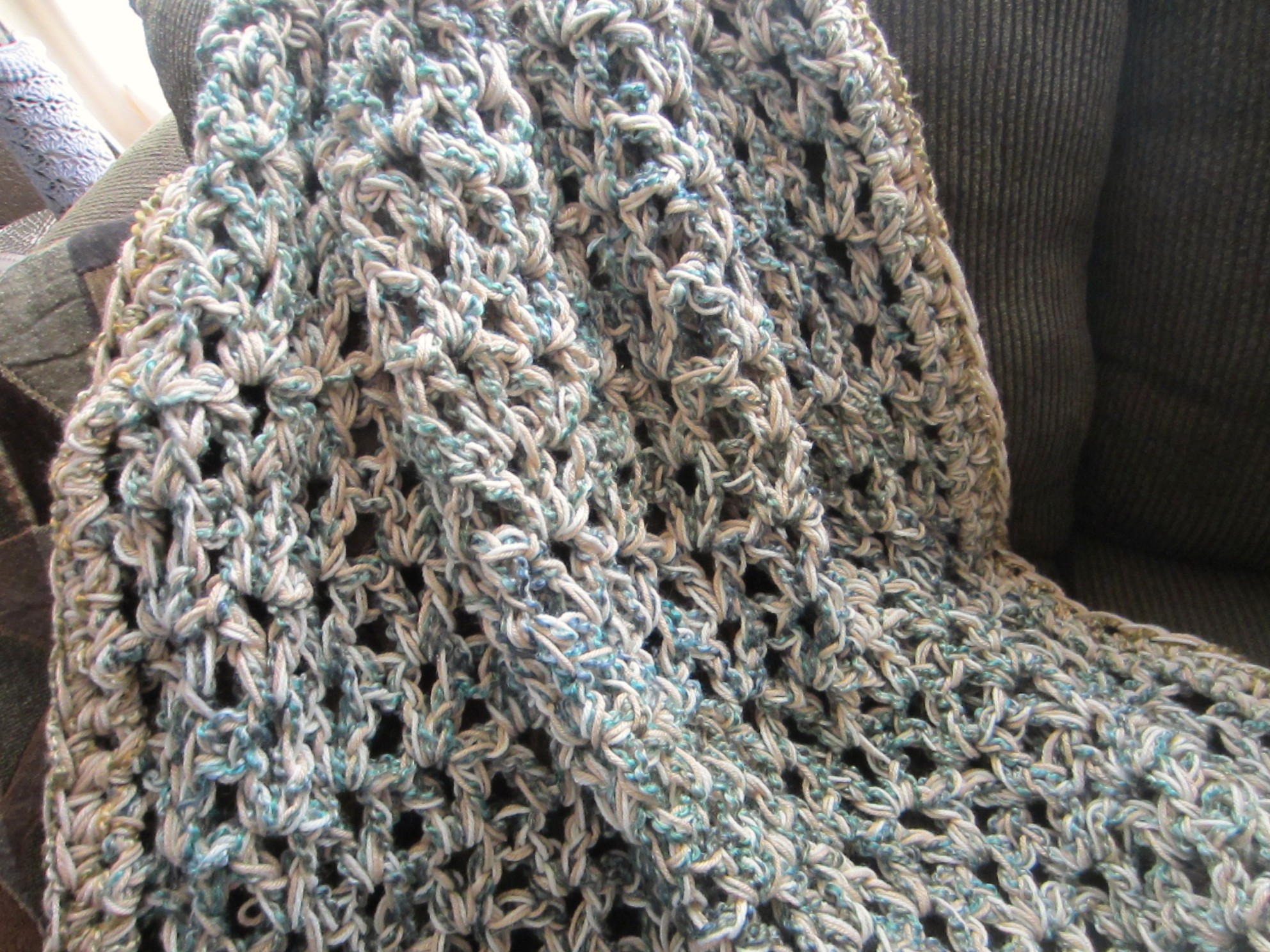 Crochet Afghan Pattern Homespun Yarn : G-Ma Ellens Hands ? Adventures in Crochet and Knit ...