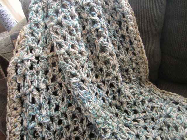 three-strand afghan, homespun, one pound yarn 003