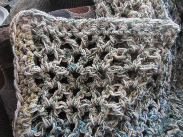 three-strand afghan, homespun, one pound yarn 005