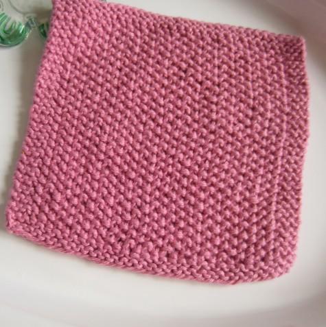 Knit cotton dishcloths help with my destashing.
