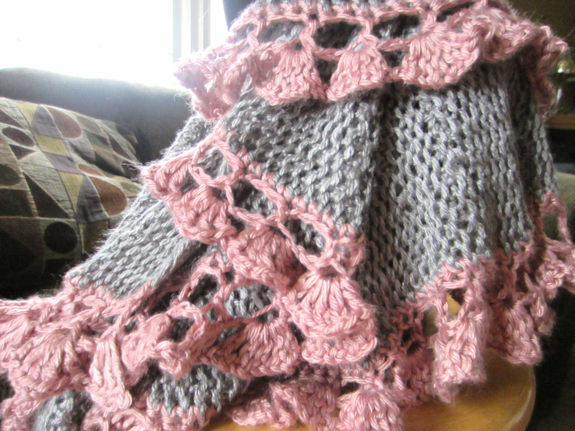 Potato Chip Scarf Knitting Pattern : Completed! Ruffle Scarf . . . I think it s glorious G-Ma Ellens Hands ...