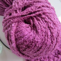 Close up of the yarn. It is a 'worsted' weight.