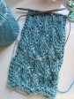 Easy Leaves Scarf.  It ought to look fabulous when finished, and blocked.  :D