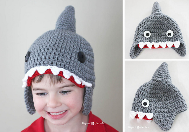 Ravelry: Crochet Shark Hat pattern by Sarah Zimmerman