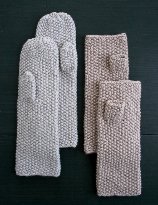 Knitting Stitch Embroidery Patterns : Whit s Knits: Seed Stitch Mittens and Hand Warmers   The Purl Bee   Knitting ...